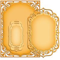 """Spellbinders Nestabilities 5""""X7"""" Card Creator Dies - Elegant Labels 4"""