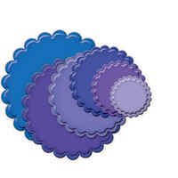 Spellbinders Nestabilities Dies - Classic Scallop Circle Small
