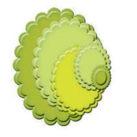 Spellbinders Nestabilities Dies - Classic Scallop Ovals Small