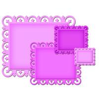 Spellbinders Nestabilities Decorative Elements Dies - Fleur De Lis Rectangles