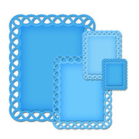 Spellbinders Nestabilities Decorative Elements Dies - Lattice Rectangles