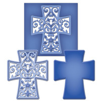 Spellbinders D-Lites Die  - Filigree Cross