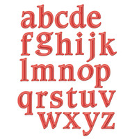 Spellbinders Shapeabilities Dies-Font 1 Lowercase