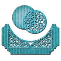 Spellbinders Designer Dies - Swirl Bliss Pocket By Becca Feeken
