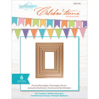 Spellbinders Celebra'tions Dies 6/Pkg - Pierced Rectangle