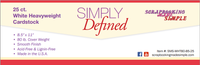 Simply Defined Heavy Weight 80lb Paper Pack - Smooth White, 25 Sheets