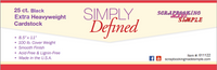 Simply Defined Extra Heavy Weight 100lb Paper Pack - Smooth White, 25 Sheets
