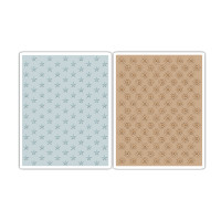 Sizzix Texture Fades Embossing Folders 2PK - Tiny Stars & Dotted Bullseye Set by Tim Holtz