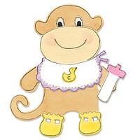 Sizzix Bigz Die - Animal Dress Ups Monkey by Dena Designs