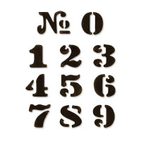 Sizzix Movers & Shapers  Magnetic Dies - Cargo Stencil Numbers