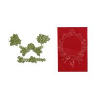 Sizzix Framelits Die Set 4PK w/Textured Impressions - Ornament Set #2 by Rachael Bright