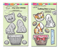 Stampendous - Cling Pop Up Kitties Set