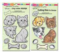 Stampendous - Cling Pop Up Puppies Set