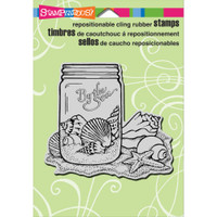 Stampendous - Cling Seashell Jar