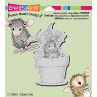 Stampendous: House Mouse Stamps - Cling Potted Mouse