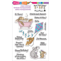 Happy Hoppers Stamp by Stampendous - Hoppy Moments