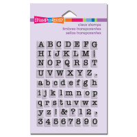 Stampendous - Clear Stamp Small Typewriter Alphabet