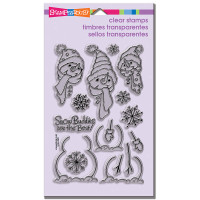 Stampendous - Clear Stamp Build A Snowman