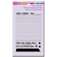 Stampendous - Clear Stamp Journal Lines