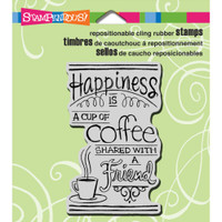 Stampendous - Cling Stamp Shared Coffee