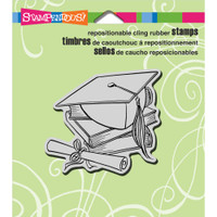 Stampendous - Cling Stamp Cap and Scroll