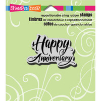 Stampendous - Cling Stamp Penned Anniversary