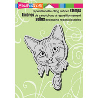 Stampendous - Cling Stamp Feline Curious