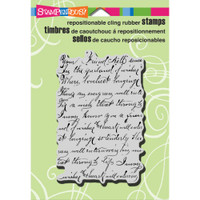 Stampendous - Cling Stamp Vintage Note