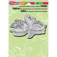 Stampendous - Cling Stamp Swan Pair