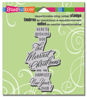 Stampendous - Cling Stamp Merriest Wish