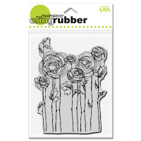 Stampendous - Cling Stamp Ranunculus Field