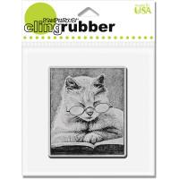Stampendous - Cling Stamp Cattus Librum
