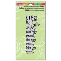 Stampendous - Cling Stamp Life is Art