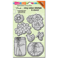 Stampendous - Jumbo Cling Stamp a Bouquet
