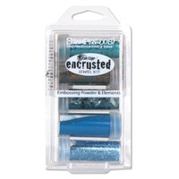 Stampendous Frantage Encrusted Jewel Kit - Teal
