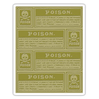 Sizzix Texture Fades Embossing Folder - Poison Labels by Tim Holtz