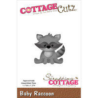 CottageCutz Die - Baby Raccoon