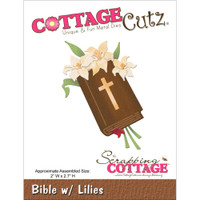 CottageCutz Die - Bible With Lilies