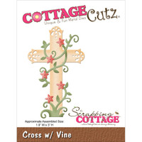CottageCutz Die - Cross With Vine