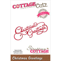 CottageCutz Die - Christmas Greetings