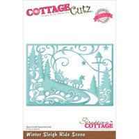 CottageCutz Die - Winter Sleigh Ride Scene