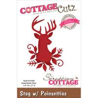 CottageCutz Die - Stag W/Poinsettias