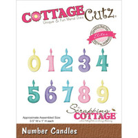 CottageCutz Elites Die - Number Candles
