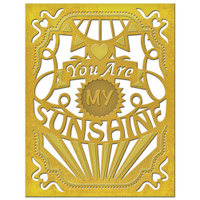 Spellbinders Card Creator Dies - You Are My Sunshine