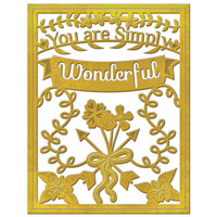 Spellbinders Card Creator Dies - You Are Simply Wonderful