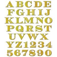 Spellbinders Shapeabilities Dies - Etched Alphabet With Numbers