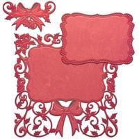Spellbinders Card Creator Dies - Decorative Holly Frame