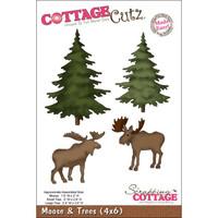 CottageCutz Die - Moose & Trees Made Easy