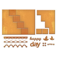 Spellbinders Card Creator Step Card Dies - Happy Days