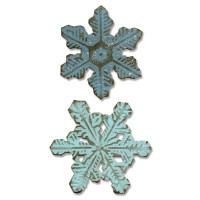 Sizzix Bigz Die with Texture Fades ­ Snowflake Duo by Tim Holtz